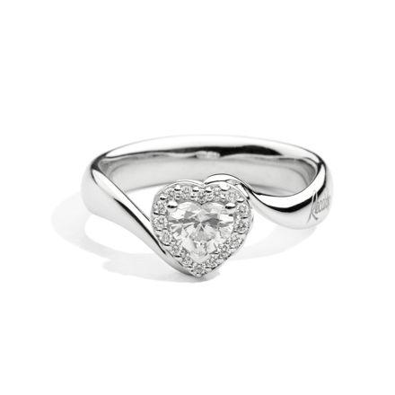 Immagine di ANNIVERSARY LOVE Solitario valentin in oro bianco e diamanti R67SC002