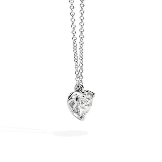 Immagine di ANNIVERSARY LOVE Collana punto luce in oro bianco e diamante P67PX001