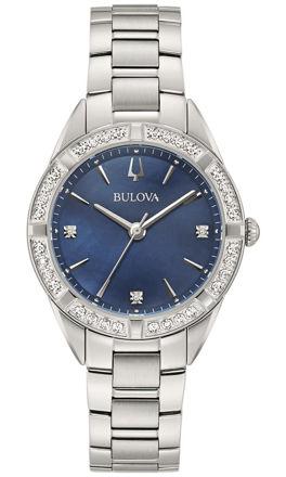 bulova sutton lady diamond orologio blu