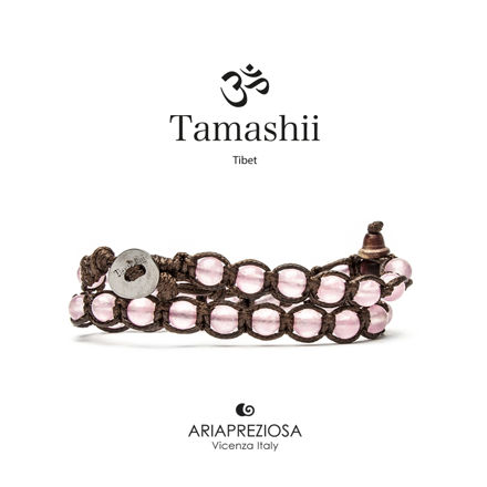 Immagine di Bracciale Tamashii Lungo Originale Giada Rosa BHS600-199