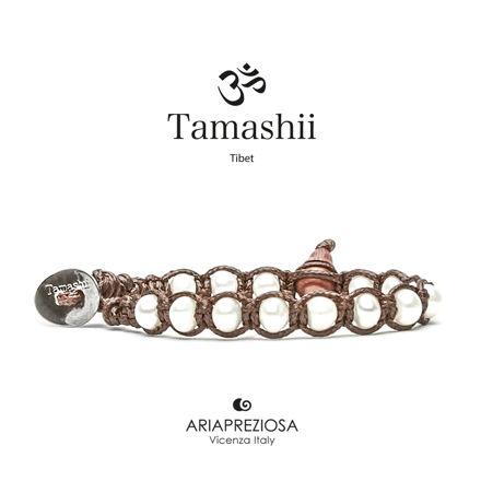 Immagine di Bracciale Tamashii Originale Perla Naturale (6mm) BHS601-179