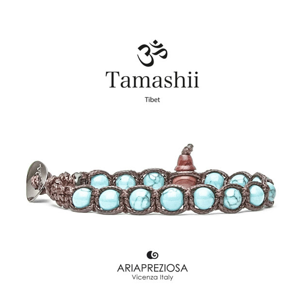 Immagine di Bracciale Tamashii Originale Turchese (6mm) BHS601-07