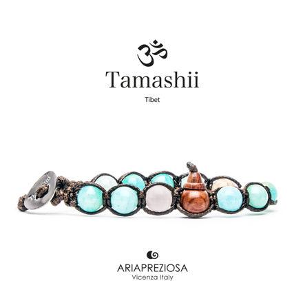 Immagine di Bracciale Tamashii Originale Amazzonite Mista BHS900-248