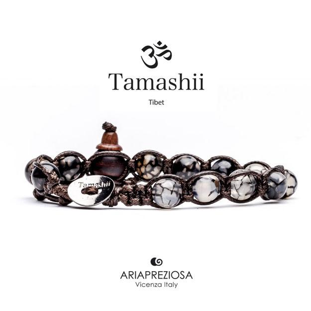 Immagine di Bracciale Tamashii Originale Agata Grigia Cracked BHS900-56