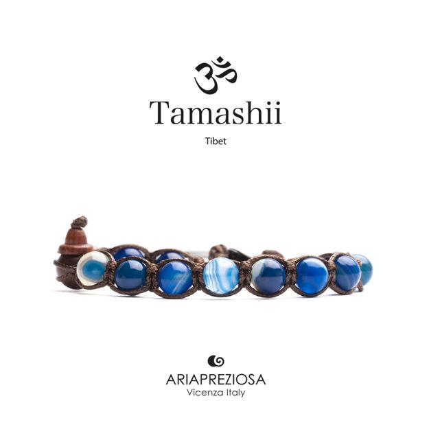 Immagine di Bracciale Tamashii Originale Agata Blu Striata BHS900-141