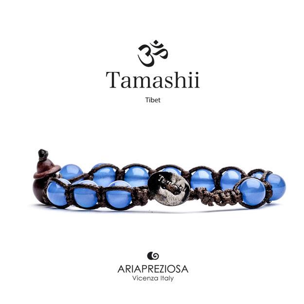 Immagine di Bracciale Tamashii Originale in Agata Blu BHS900-18