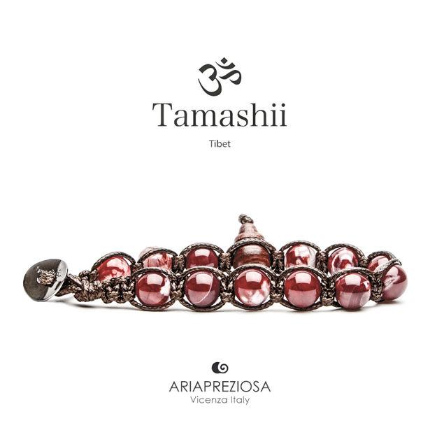 Immagine di Bracciale Tamashii Originale Agata Rosso Scuro BHS900-213