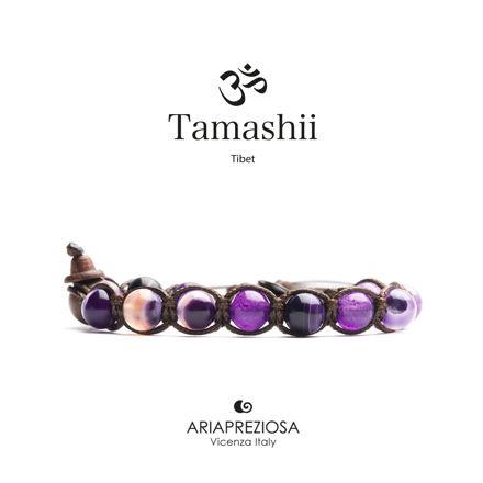 Immagine di Bracciale Tamashii Originale Agata Viola Striata BHS900-85