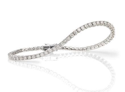 Crieri classic bracciale tennis in oro bianco e diamanti bianchi taglio brillante.