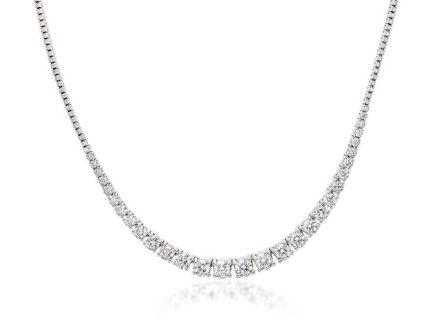 Crieri classic collana in oro bianco e diamanti bianchi taglio brillante,