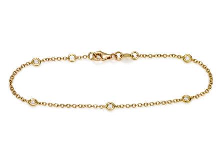 Crieri Zefiro bracciale in oro giallo e diamanti bianchi taglio brillante.